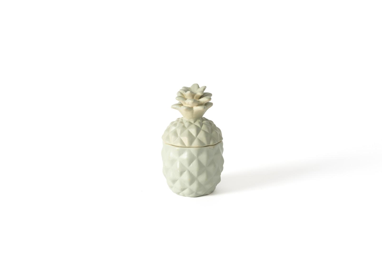 Ceramic box in the shape of pineapple