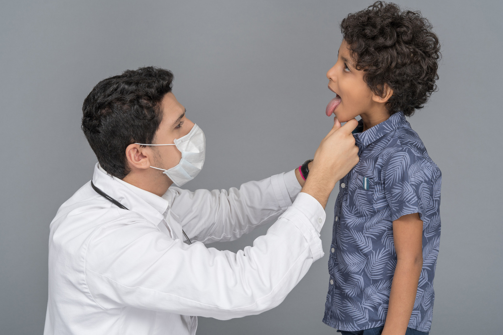 Doctor and boy