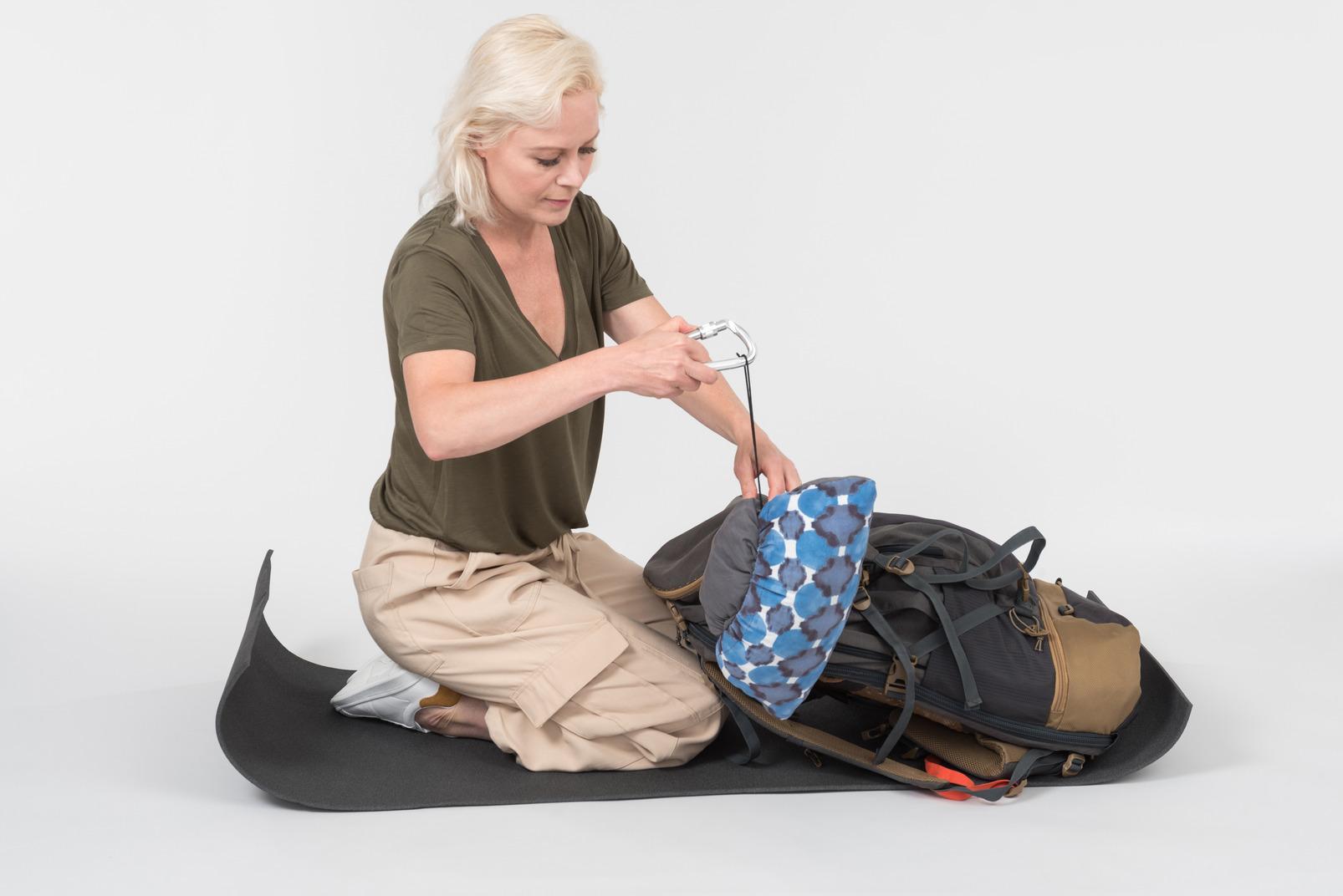 Preparing backpack load for journey