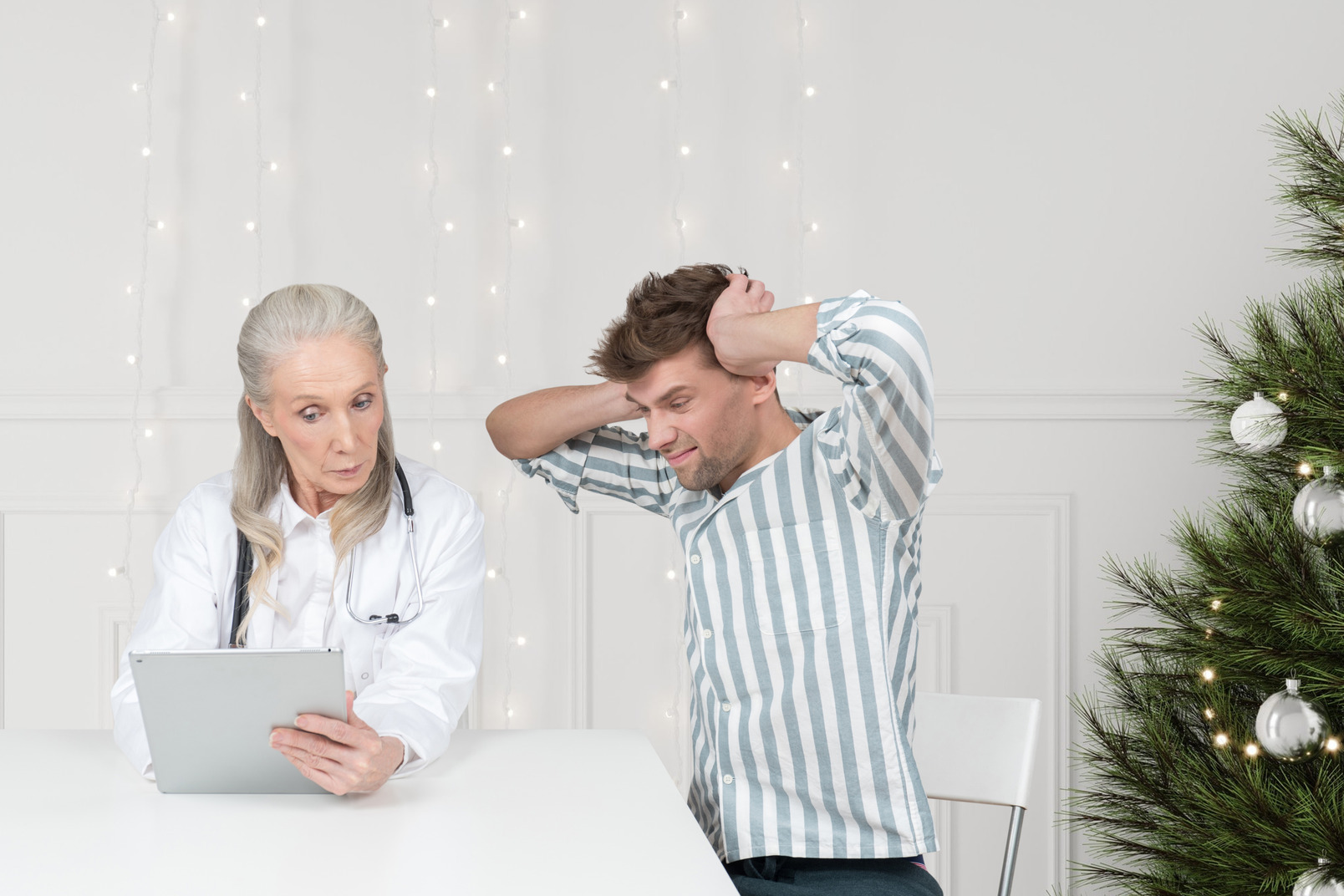 Mann, der sich weigert, auf die weihnachtsgeschenkliste seiner mutter zu hören