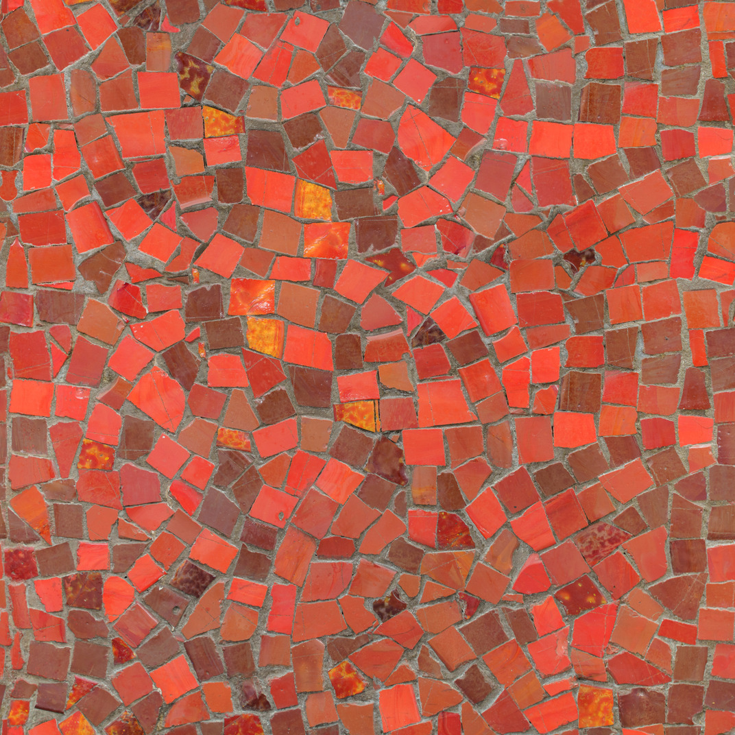 Red mosaic texture