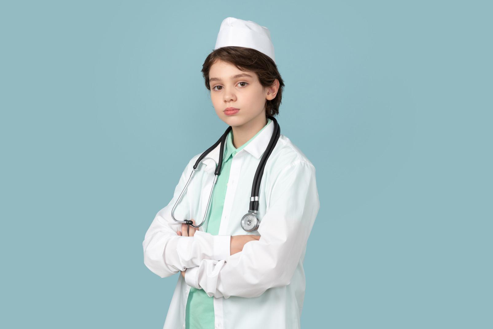He looks like a real doctor