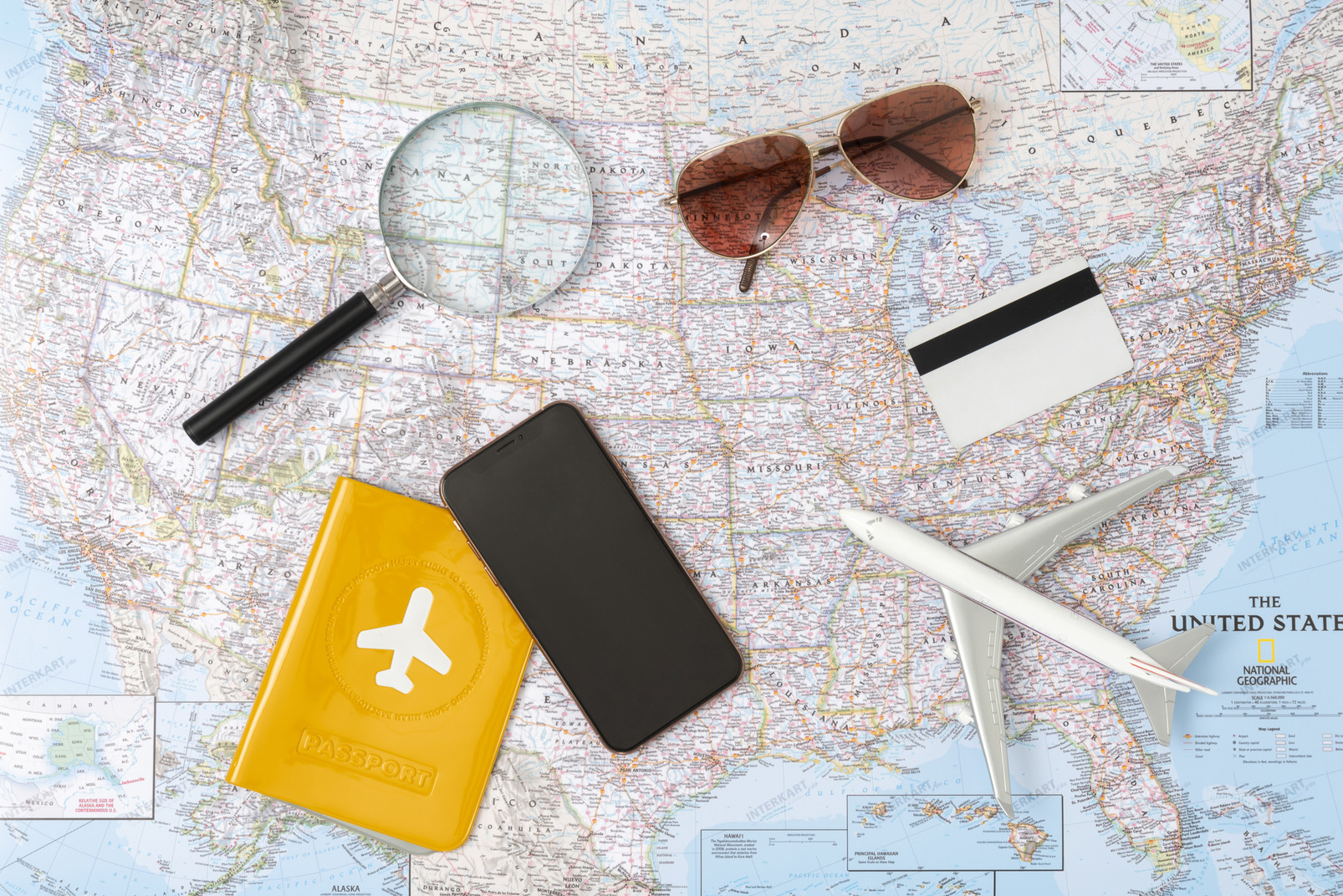 Grab your phone, shades, credit card and a passport, let's get lost somewhere in the usa