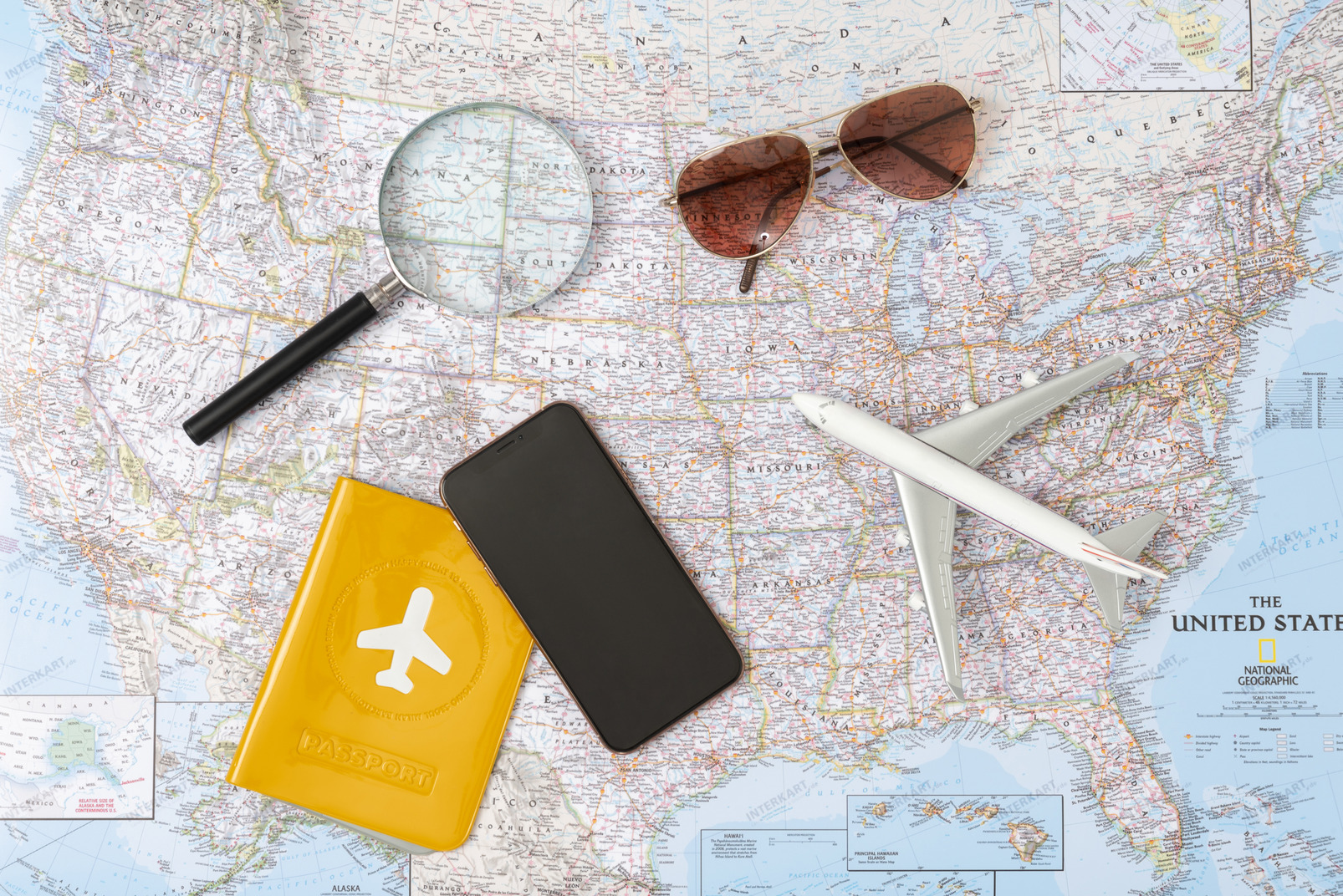 Phone, passport and favorite sunglasses is all you need to travel the world today